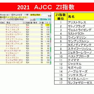 【指数で当てる】AJCC 2021 ZI指数馬 過去3年を分析した軸馬