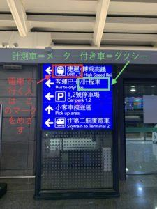 台北 桃園空港手続きフロー
