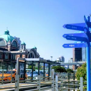 帰国前にはソウル駅前のロッテマート