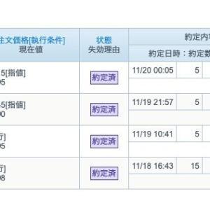 FX  売買状況  令和元年11月20日