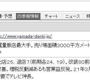 株主優待 ヤマダ電機
