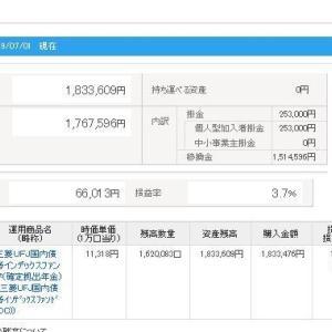 IDECO 令和元年7月2日 資産状況