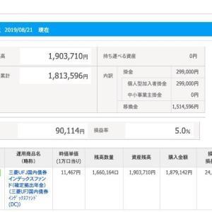 IDECO 令和元年8月22日 資産状況