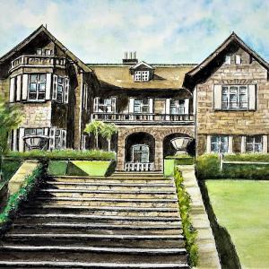 水彩画 「旧古河邸庭園」