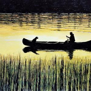 水彩画 「サンセット」