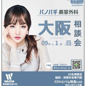 【お知らせ】19年9月1日 バノバギ×ワジョア 大阪カウンセリング会