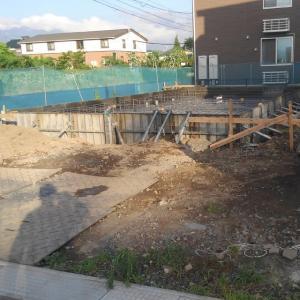 グランドフジちの上原A号地のパパまるハウス建築着工。
