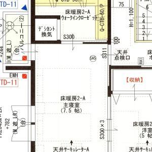 【図面】主寝室&ウォークインクローゼット