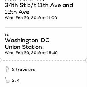 ニューヨーク⇔ワシントンDCはメガバスが便利