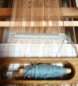 二重織りの織り比べ 2