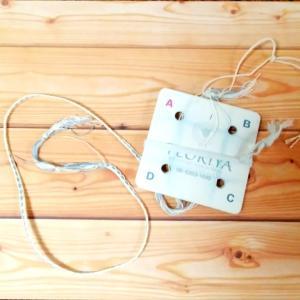 カード織りで織り紐づくり