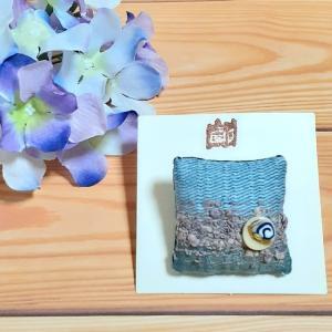 【新作】季節のブローチ ~紫陽花~