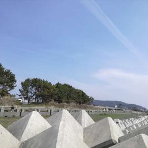 【静岡市】海岸沿いの駐車場。