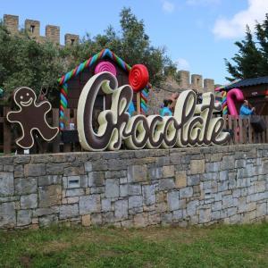 チョコレートフィスティバルの余韻?【王妃の村オビドス】城壁下のチョコレート