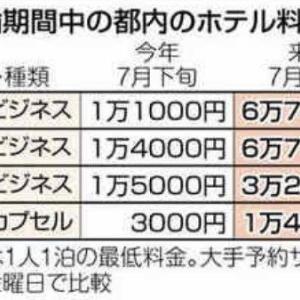 そういえば【東京五輪でホテル界はウハウハのはずが】そろそろ五輪だったか…