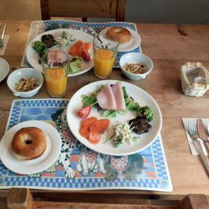 朝食ベーグル始まりました♪