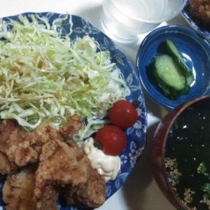平成最後のご飯~唐揚げ定食