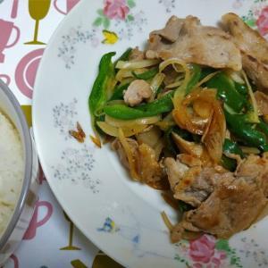 自炊でゼロ円ランチ【生姜焼き定食】醤油漬け豚肉は美味い!