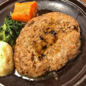 米沢駅前の食房 杵で米沢牛のハンバーグ陶板焼き@山形