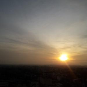 タイピンの夕陽