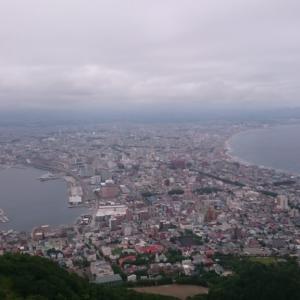 函館マラソンの後は函館山に登山