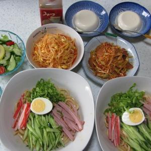 我が家のお昼ご飯と晩ご飯で~~す(^^♪