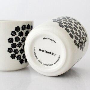 Puketti / コーヒーカップ / ホワイトxブラック