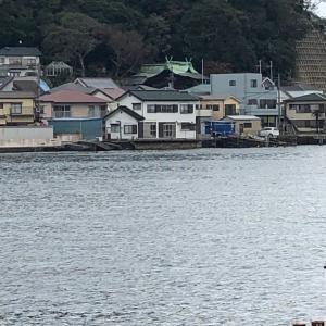 西叶神社から船に乗って東叶神社へ