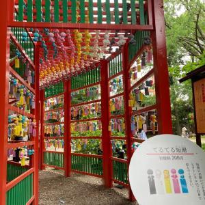 田無神社に行って来ました。七夕飾りのてるてる短冊。