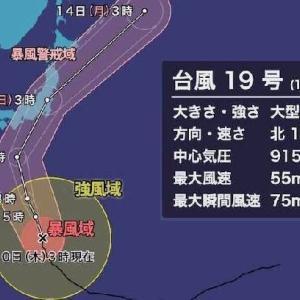 台風が気になります…