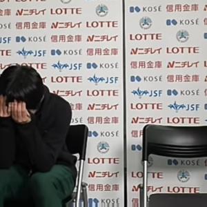 NHK杯 男子は何度も泣く
