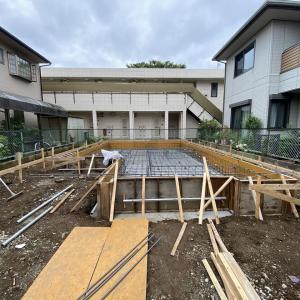 狛江の家、基礎工事進行中!