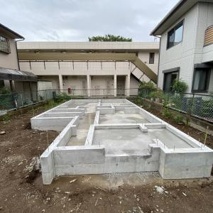 狛江の家、基礎工事完了!