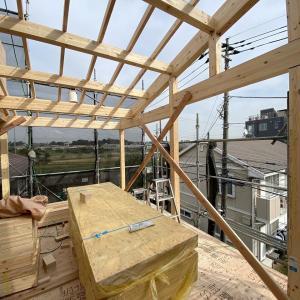 SE構法のTSUBO邸、木工事進行中!