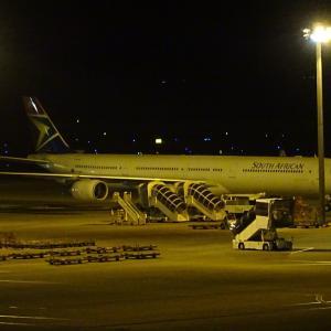 南アフリカ航空のA340-600セントレア回航