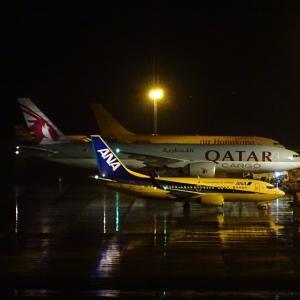 セントレアにテクランするようになったカタール航空カーゴのB777-200F