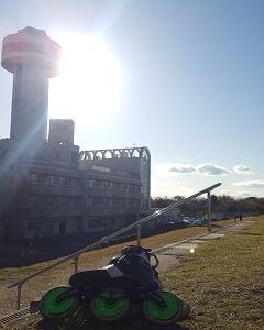木曽川自転車道を滑るよ!(130)