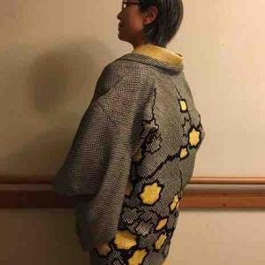 昭和の羽織ものを現代にリメイク