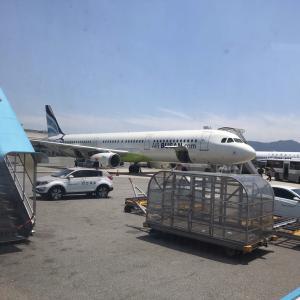 エアプサン  名古屋(中部)発釜山行き 就航初便搭乗