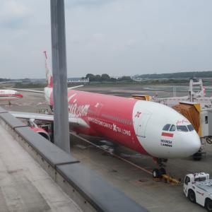 インドネシア・エアアジア・X 成田→ジャカルタ 就航初便搭乗