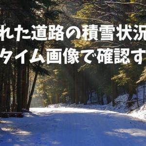 遠く離れた道路の積雪状況などをリアルタイム画像で確認する方法