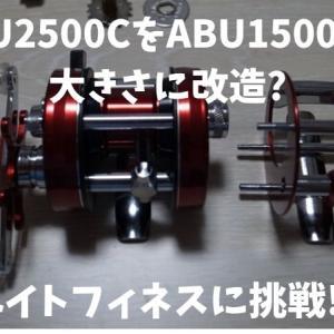 ABU2500CをABU1500Cの大きさに改造してベイトフィネスに挑戦!!