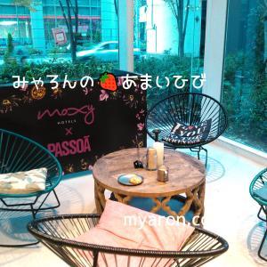 モクシー大阪本町・宿泊記-フロントのようす