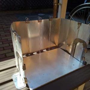 ガスコンロの風防を改良する