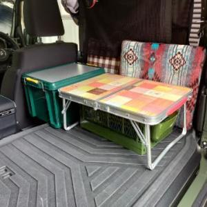 ジムニーの車内で使うローテーブルを買いました