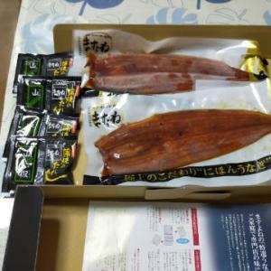 父の日に鰻を送ってくれました