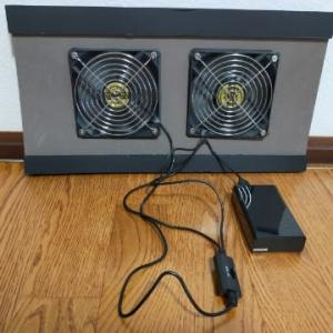 ジムニーの夏向け車中泊換気扇を改良しました