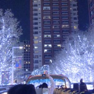 【オススメ】東京スカイバスに1人で乗ってみた(しかもクリスマスイルミネーションコース)