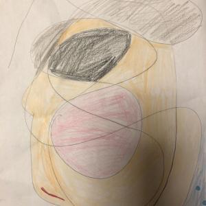 グチャグチャからの絵 (娘 4年)