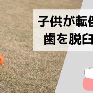 【乳歯の脱臼】子供が転倒で前歯を脱臼した際の治療とその後の経過。